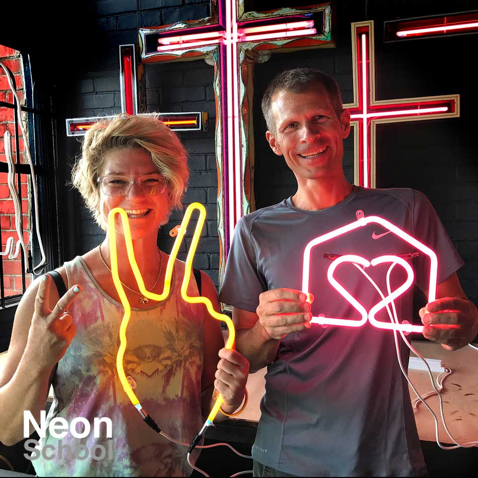 Neon School Students